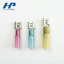 Les fils de rétrécissement de la chaleur de PVC pré servent des bornes de connecteurs de Ket à sertir