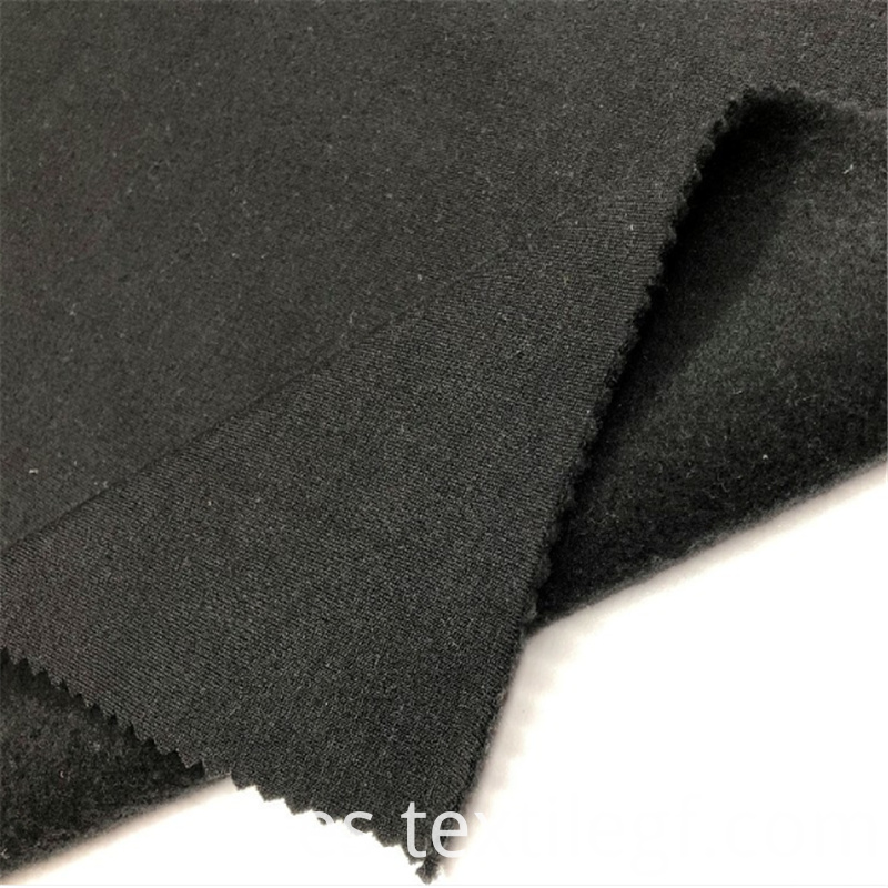 Hot sale TC French Black KnittingTerry Brushed Fabric (3)