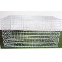 1 meter by 2 meter welded gabion box