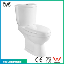 cuarto de baño de alta calidad de cerámica p-trampa de dos piezas baño WC wc
