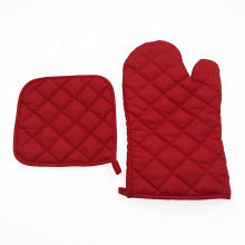 China manufactory promotion heat resistant kitchen cotton microwave oven mitts and pot holders sets
