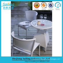 Beige Rattan Bar Stool Cocktail Catering Aluminum Bistro Table And Chair