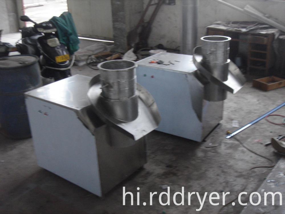 Revolving extruder granulating machine