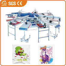 Multi-Color Automatic Rotating T-Shirt Printing Machine