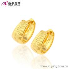 90179 mais recente moda ouro sem pedra jóias brinco aros