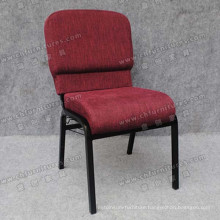 Dark Red Fabric Church Chair (YC-G36-01)