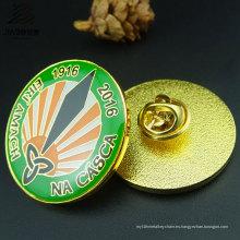 Insignia de encargo del metal del Pin de la impresión redonda del logotipo de la venta superior para el regalo promocional