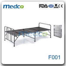 Cama plana de aço inoxidável baixa em aço inoxidável F001