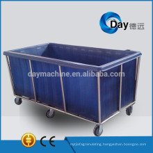 HM-28 stainless steel frame laundry carts with plastic body