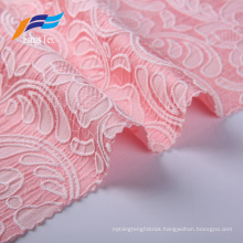100% Polyester Jacquard Embroidery Women Suit Fabric