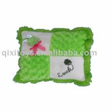 plush&stuffed frog cushion,soft baby animal toy