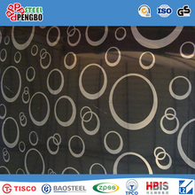 Tched, Embossed, Hl, Mirror Finish Hoja de acero inoxidable