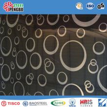 Tched, Embossed, Hl, Mirror Finish Stainless Steel Sheet