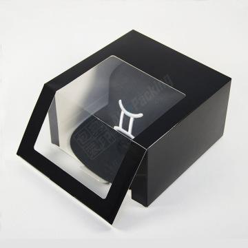 Casquettes de baseball personnalisées Emballage de boîte-cadeau de casquette noire