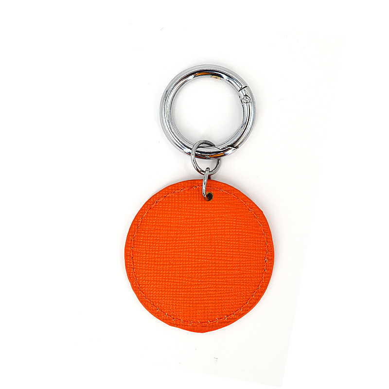 Cheap Custom Logo New Fashion Saffiano Leather Keychain