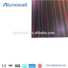 Wood like anti scratch furniture used acp aluminum composite panels for making desk