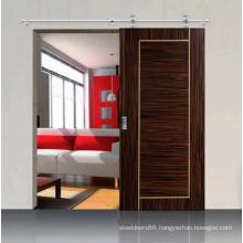 Interior Dark Brown Modern Design Customized Veneered Sliding Door