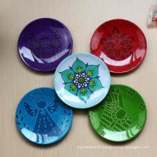 (BC-PM1032) High Quality Reusable Imitation Porcelain Melamine Plate