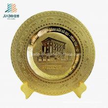 Jiabo Поставляем Дешевые Изготовленный На Заказ Медный Коррозии Логотип Золотой Металл Тарелка