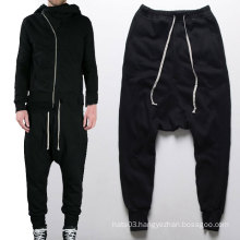 Drop Crotch Plain Harem Pants Jogger Trousers