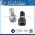Taiwán DIN estándar inoxidable M2 zócalo hexagonal preciso tornillo de cabeza redonda moleteado tornillo de cabeza de casquillo