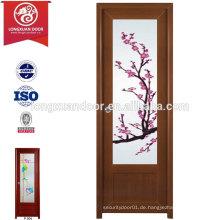 Billig und Qualität PVC Toilette Bad Tür mit Mattglas