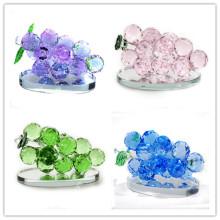 Alta qualidade de decoração de casamento presente de cristal de vidro uvas