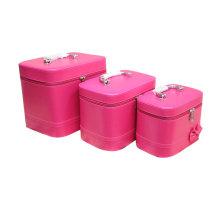 Rosige Farbe Beauty Bag hohe Qualität festgelegt