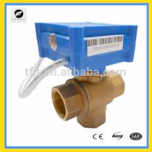 3-way DC5V CWX20P Brass Female-Female-Female DN15 L-flow motor ball valve