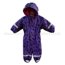 Purple Hoody PU Coated Jumpsuit/Overall/Raincoat