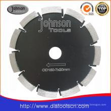Laser welded saw blade: 150mm asphalt cutting blade