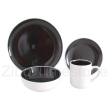 16PCS Steinzeug-Doppelt-Farbe glasierte Abendessen-Set (TM7502)