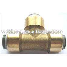 brass quick copper tee fittings Chromed and polished effect