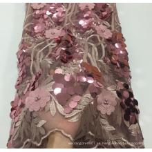 Telas de encaje de apliques elegantes de lujo para vestido