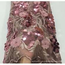 Luxury elegant applique lace fabrics for dress