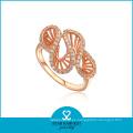 Joyería de oro del anillo de la galjanoplastia del AAA CZ (SH-R0003)