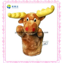 Funny Plush Deer Puppet for Kids