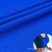 fashion quick dry polyester blend nylon lycra imitation denim activewear shirt fabric