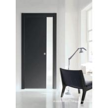 Morden Design Melamine Wooden Door, Dark Color Home Office Room Door, Decoration Door S7-M-1008