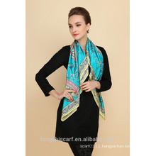 new fashion ladies silk print square scarf