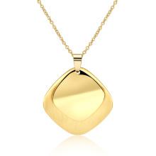 Classic Rhomboic Shape Women Necklace 18k Gold Women Jewelry