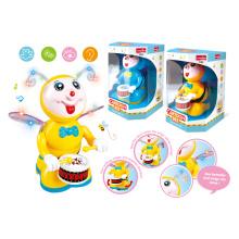 Batería de juguete de dibujos animados con la luz y la música (h0278047)