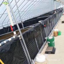 Géomembrane d'étang de la ferme piscicole BLck