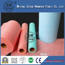 Tissu de tissu non-tissé imprimé par polyester de Spunlace