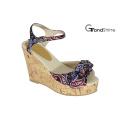 Women′s Slingback Strap Platform Cork Wedge Sandals