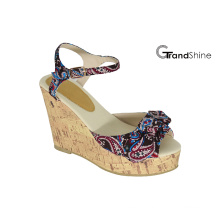 Women′s Slingback Strap Platform Cork Wedge Sandals