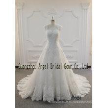 Ridal encaje para vestidos de novia hecho a mano de tela de encaje 2017 por mayor