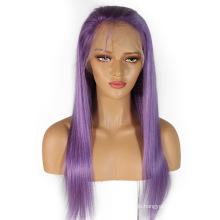 """Auf Lager 10 """"-24"""" Licht lila Menschenhaarspitzefrontperücken brasilianische remy Haarperücke verwirren frei kein Verschütten gerade"""
