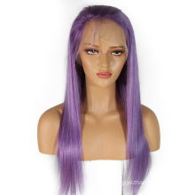 "In stock 10""-24"" light purple human hair lace front wigs Brazilian remy hair wig tangle free no shedding straight"