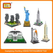 LOZ архитектурный дизайн строительные блоки детские игрушки для детей